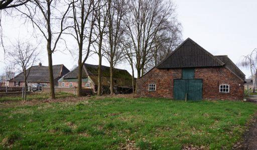 Oude boerderijen op 't Leurke in Boekel