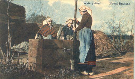 Waterputten op het erf