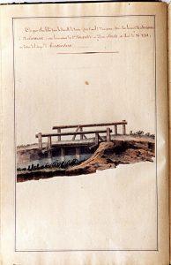 De locatie van de houten brug van 1818 in Someren