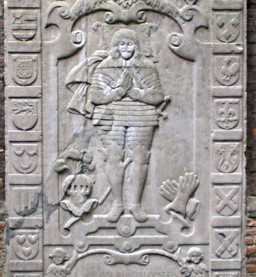 De grafzerk van Adolf van Eynthouts in Kleef