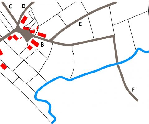 Het goed Ten Broek en de watermolen op De Gender in Strijp (Eindhoven)